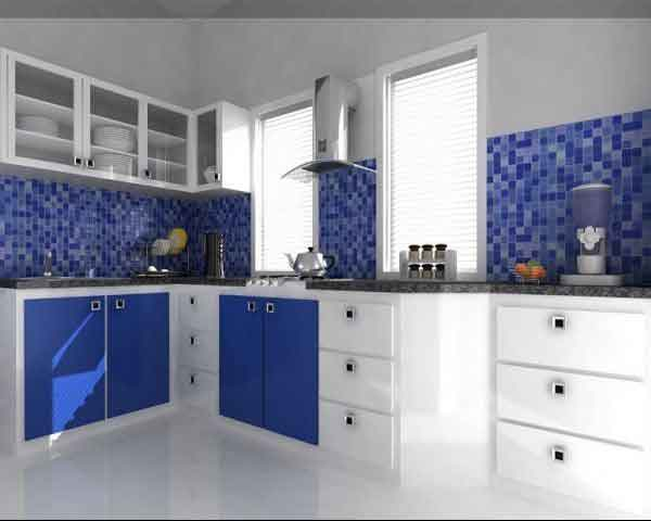 Kitchen l shaped ziyko for Italian kitchen design india