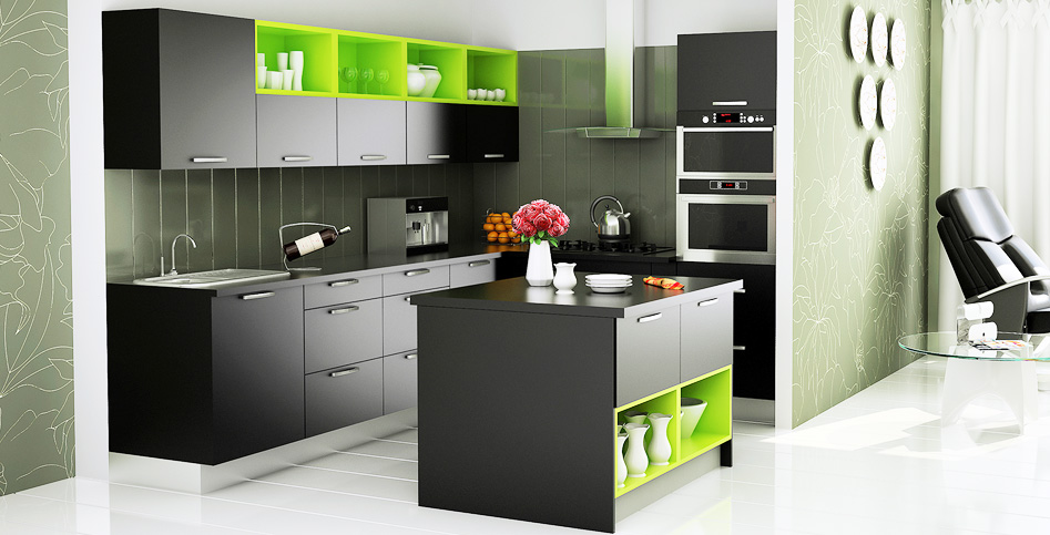 L shape kitchen with island ziyko for L shaped kitchen design ideas india